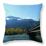 Bridging The Seasons Throw Pillow