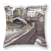 Bridging The Seine Throw Pillow
