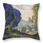 Bridlington Priory From Woldgate On The Hockney Trail Throw Pillow