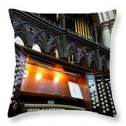 Bridlington Priory Pipe Organ Throw Pillow