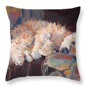 Brie As Odalisque Throw Pillow