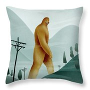 Brief Encounter With The Tall Man Throw Pillow