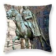 Brigadier General Casimir Pulaski Saved George Washington's Life Throw Pillow