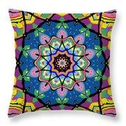 Brigadoon No. 1 Kaleidoscope Throw Pillow