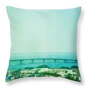 Brigantine Bridge - New Jersey Throw Pillow