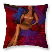 Brigette Recling Nude #4 Throw Pillow