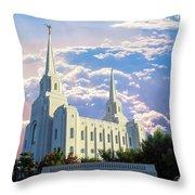 Brigham City Utah Temple Throw Pillow