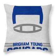 Brigham Young Cougars Vintage Football Art Throw Pillow
