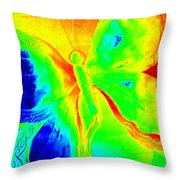 Bright Abstract Butterfly Throw Pillow