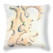 Bright And Bushy Throw Pillow