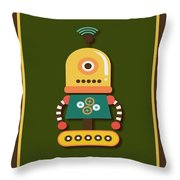 Bright And Colorful Robot Toy Throw Pillow