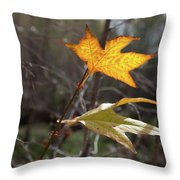 Bright And Sunlit Leaf, Arizona Throw Pillow