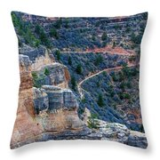 Bright Angel Trail @ Grand Canyon Throw Pillow