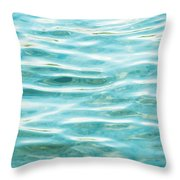 Bright Aqua Water Ripples Throw Pillow