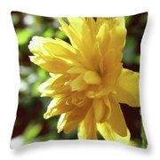 Bright As Yellow Throw Pillow