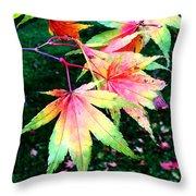 Bright Autumn Leaves Tatton Park Throw Pillow