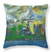 Bright Beach Throw Pillow