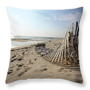 Bright Beach Morning Throw Pillow