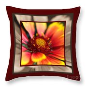 Bright Blanket Flower With Design Throw Pillow