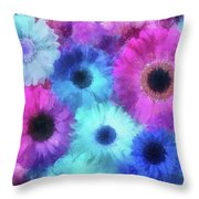 Bright Blossoms Throw Pillow