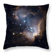 Bright Blue Newborn Stars Blast A Hole Throw Pillow