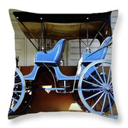 Bright Blue Surrey Throw Pillow