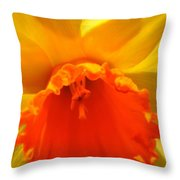 Bright, Bold Daffodil Throw Pillow