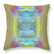 Bright Chalice Ancient Symbol Tapestry Throw Pillow