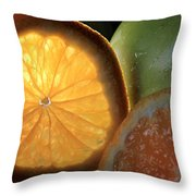 Bright Clementine  Throw Pillow