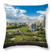 Bright Clouds In Downtown Richmond Va Throw Pillow