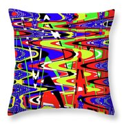 Bright Color Mix Abstract Throw Pillow
