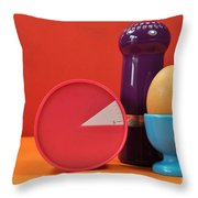 Bright Colorful Breakfast Trio Throw Pillow