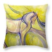 Bright Dancer Throw Pillow