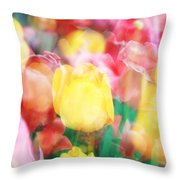 Bright Dreams In The Tulips Throw Pillow