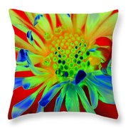Bright Flower Throw Pillow