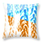Bright Hanging Plants Throw Pillow