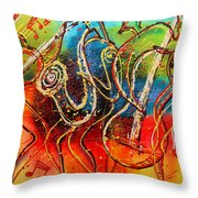 Bright Jazz Throw Pillow