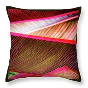 Bright Leaves 548 Throw Pillow
