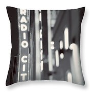 Bright Lights In The City Throw Pillow