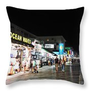 Bright Lights On The Boards Throw Pillow