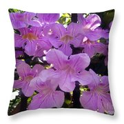 Bright-lillac Flowers 6-22-a Throw Pillow