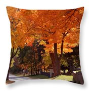 Bright Maple Morning Throw Pillow