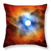 Bright Moon And Dark Clouds Throw Pillow