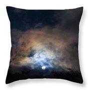 Bright Night Skies Throw Pillow