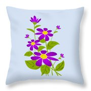 Bright Purple Throw Pillow