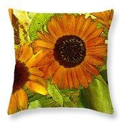 Bright Regalia Throw Pillow