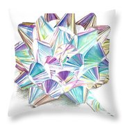 Bright Ribbon Throw Pillow