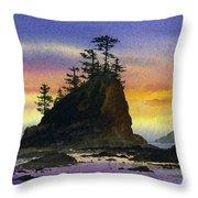 Bright Seacoast Sunset Throw Pillow