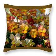 Bright Shining Faces Throw Pillow