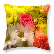 Bright Spring Flowers Throw Pillow by Amy Vangsgard